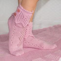 Socken Rosenquarz DE