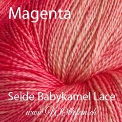 Seide Babykamel Lace Magenta 100g 800m Lacegarn Strickwolle Baby Kamel Kamelwolle Seide handgefärbt stricken häkeln