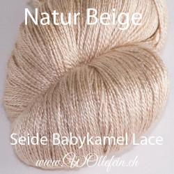 Seide Babykamel Lace Natur 100g 800m Lacegarn Strickwolle Baby Kamel Kamelwolle Seide handgefärbt stricken häkeln