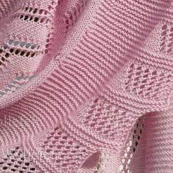 Shawl Rose Quartz Knitting pattern step-by-step shawl with lacy border