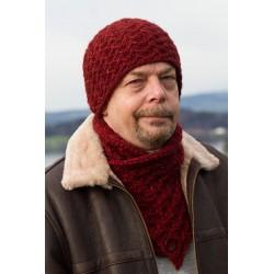 Herrenmütze Mütze und Schal Davos Strickanleitung www.wollefein.ch