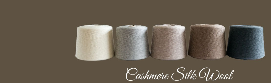 Cashmere Silk Wool Konengarn
